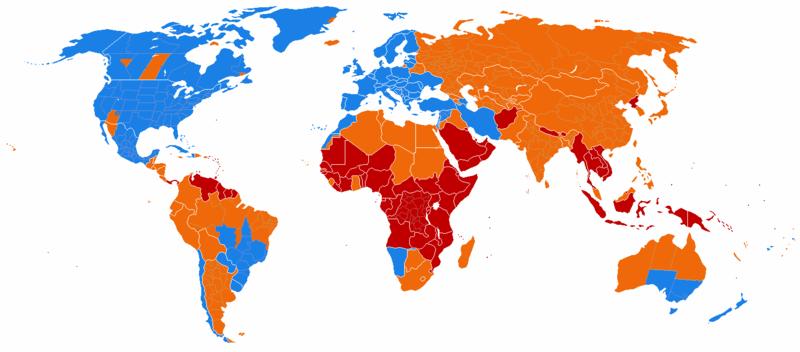 Kraje stosujące czas letni
