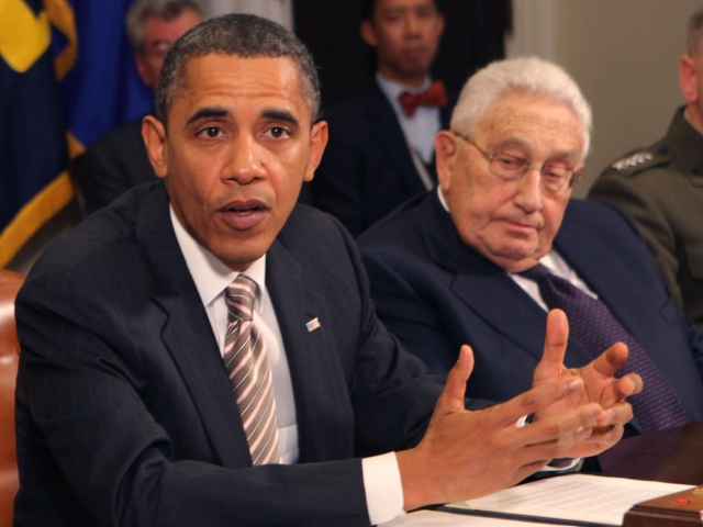 DC: OBAMA WITH FORMER SECRETARIES OF STATE & DEFENSE