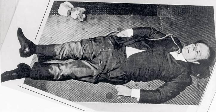 Ciało Roberto Calviego.