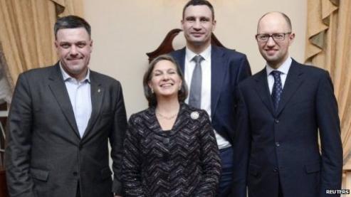 Żydówka Victoria Nuland wprowadzająca na Ukrainę Nowy Porządek Świata (NWO)