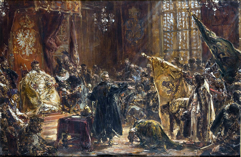 "Jan Matejko ""Hołd ruski"", olej na desce, 1892, Dom Jana Matejki w Krakowie"