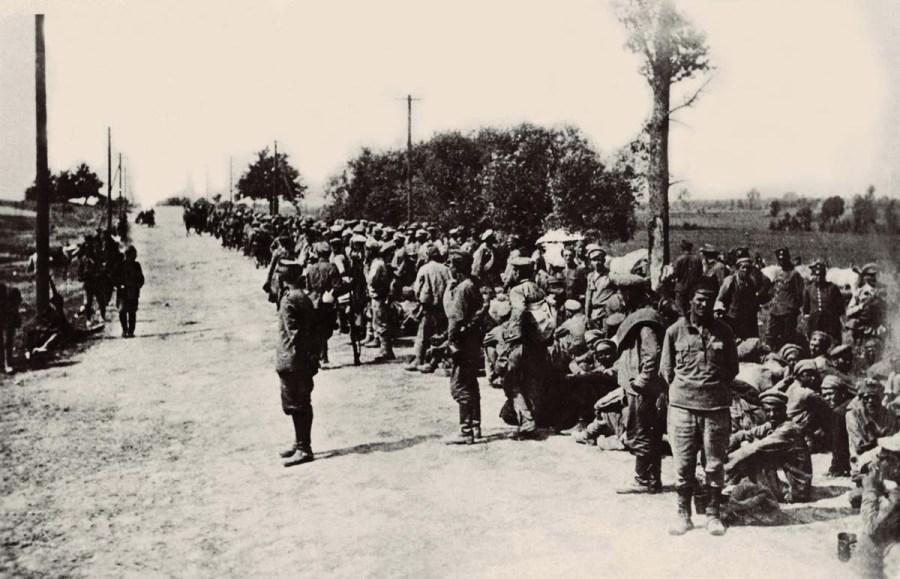 Jeńcy rosyjscy po Bitwie Warszawskiej 1920