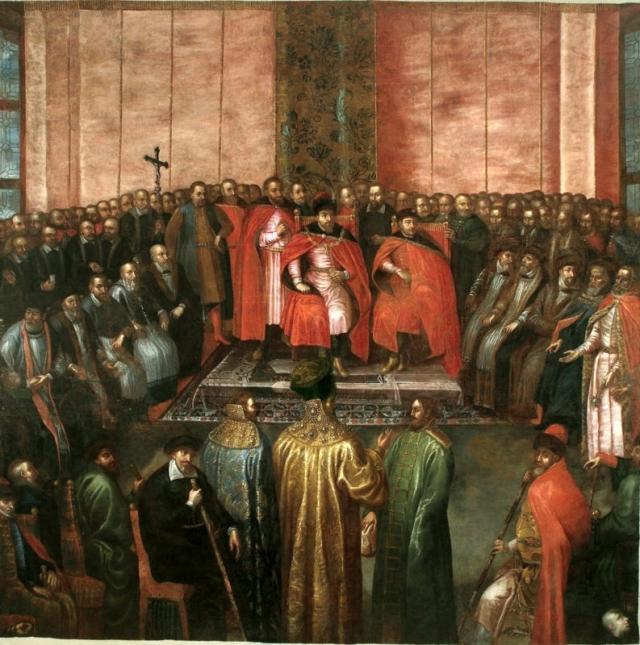 """Tomasz Dolabella """"Przyjecie Szujskich w Sali Senatu w 1611 roku"""", obraz zaginiony"""