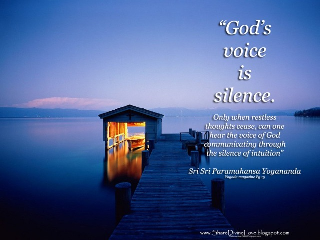 Gods voice is in silence
