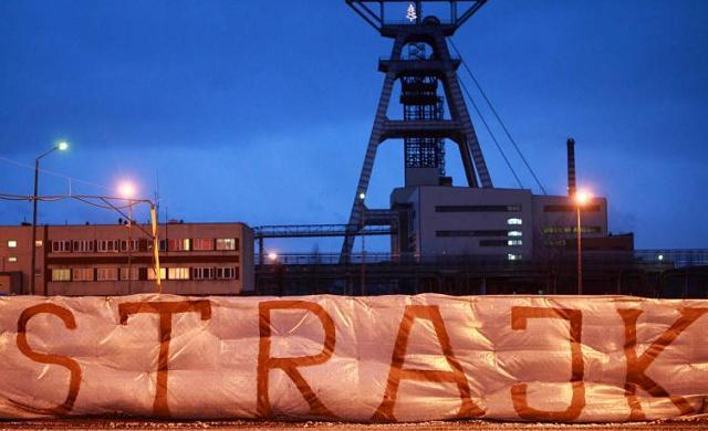 strajk górników