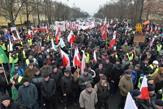 protest rolników 2015