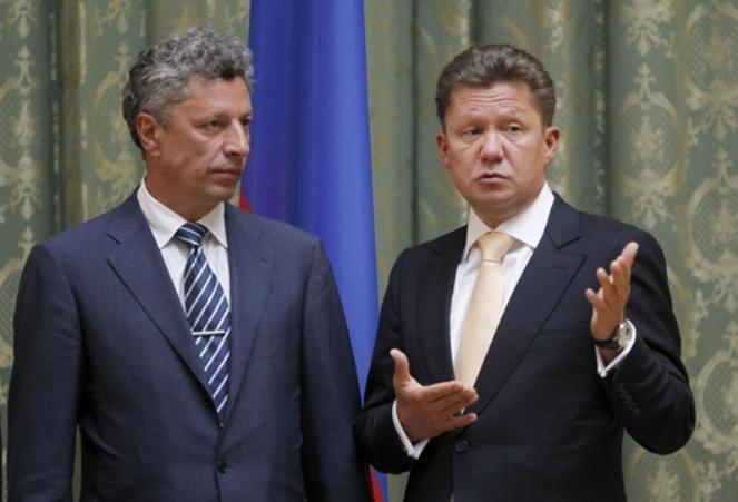 Jurij Bojko i Aleksiej Miller, szef Gazpromu