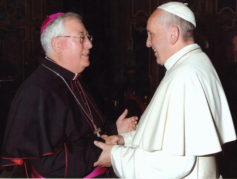 Bp Juan Antonio Reig Plà z papieżem Franciszkiem