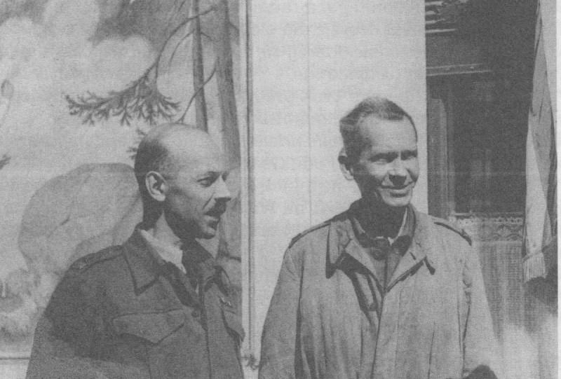 """Gen. Tadeusz """"Bór"""" Komorowski i gen. Tadeusz Pełczyński"""