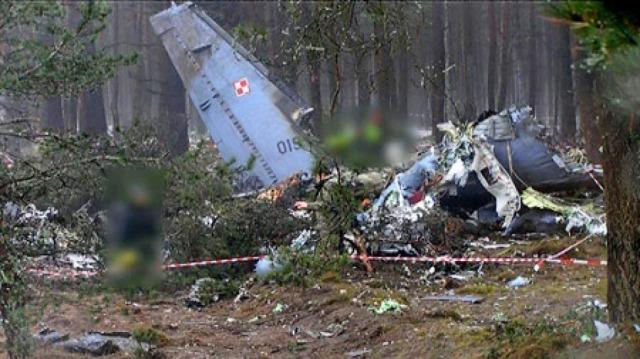 Katastrofa w Mirosławcu, szczątki wojskowego samolotu CASA C-295 M, 23.01.2008 r.