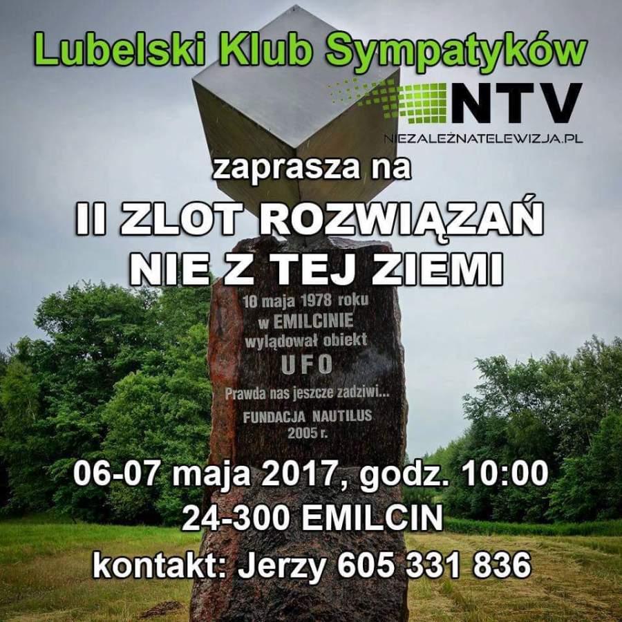II Zlot Rozwiązań Nie Z Tej Ziemi w Emilcinie, 6-7 maja 2017